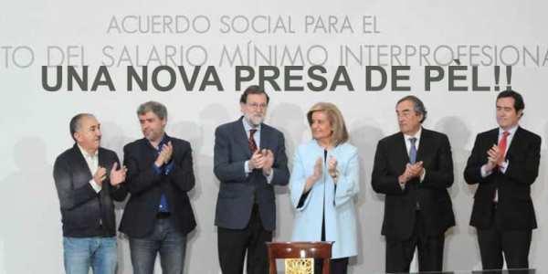 La pujada del salari mínim interprofessional (SMI), UNA NOVA PRESA DE PÈL!!