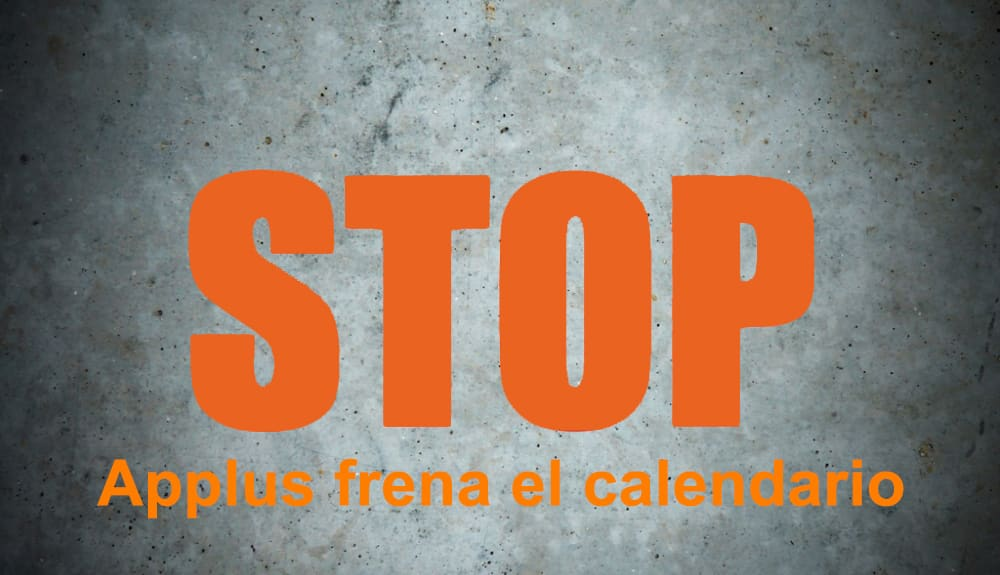 applus frena el calendario