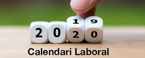 Calendari laboral i festes laborals per al 2020