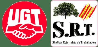 Logos UGT y SRT Sindicat Reformista de Treballadors