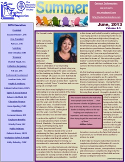 SRTA Newsletter June 2013