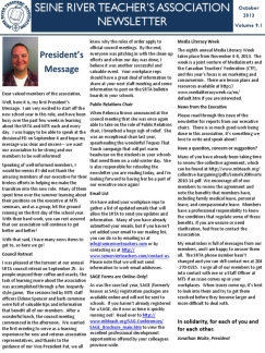 SRTA Newsletter October 2013