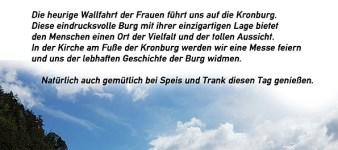 Frauenwallfahrt auf die Kronburg