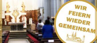 Gottesdienste wieder öffentlich zugänglich