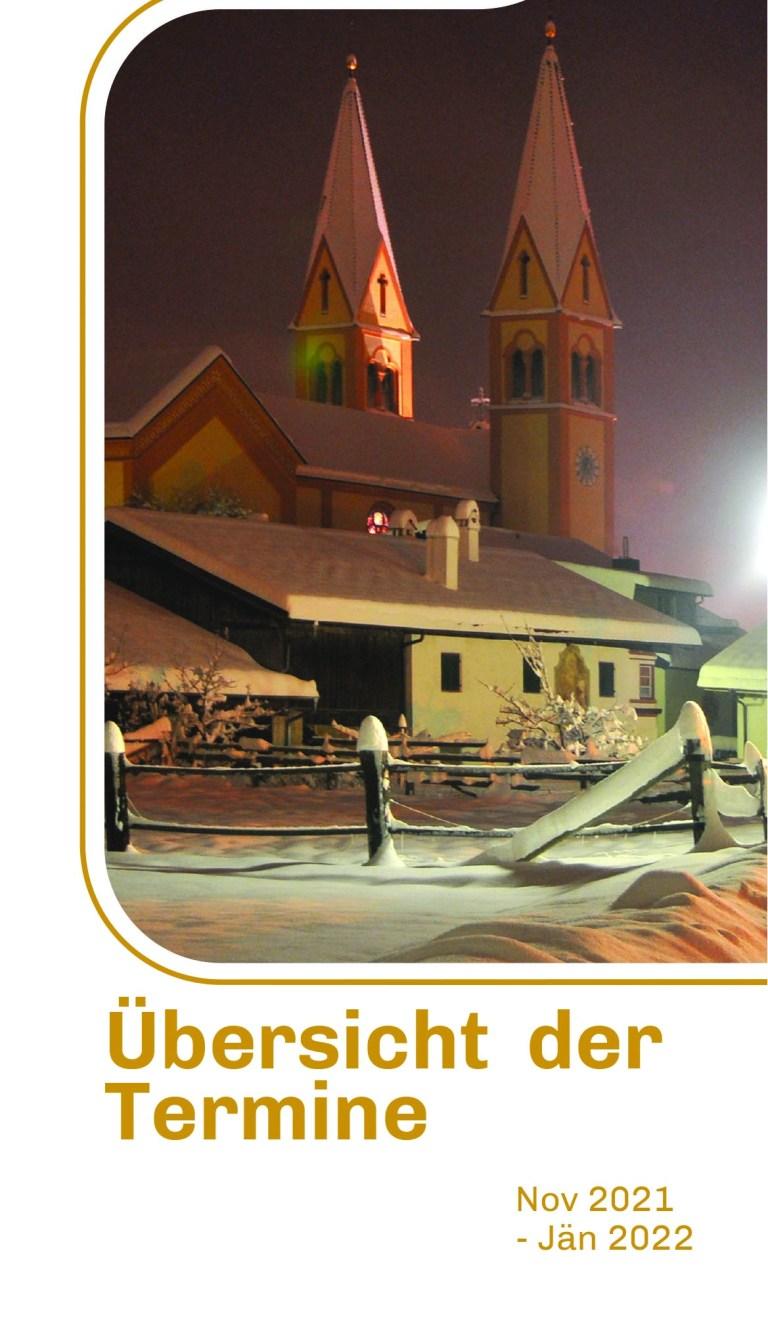 Broschüre FESTE & FEIERN im SR Telfs (Nov 2021-Feb 2022)