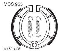 TRW Lucas Bremsbacken Satz MCS955, HINTEN, Yamaha XT 600 Z