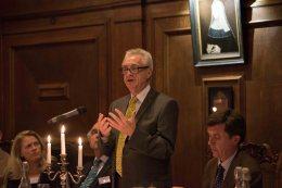 Prof. Worton gives the speech after dinner
