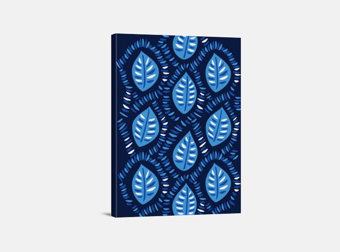 pretty decorative blue leaves