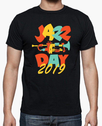 Fancy Creative Jazz Day Design t-shirt