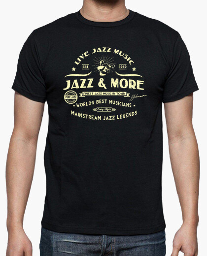 Jazz  more jazz club retro style t-shirt