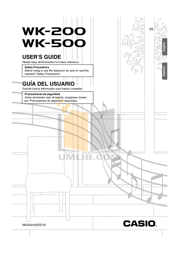 Download free pdf for Casio WK-200 Music Keyboard manual