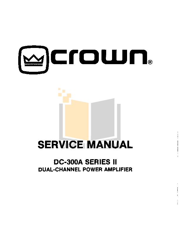 Download free pdf for Crown DC-300A Amp manual