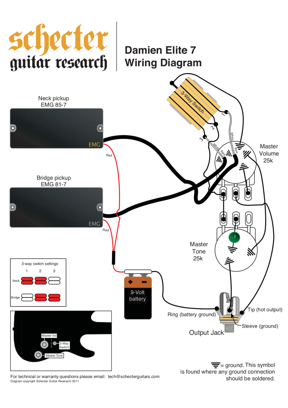 medium resolution of schecter t1 wiring diagrams