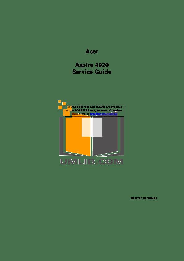 Download free pdf for Acer Aspire TimelineX 5830TG Laptop