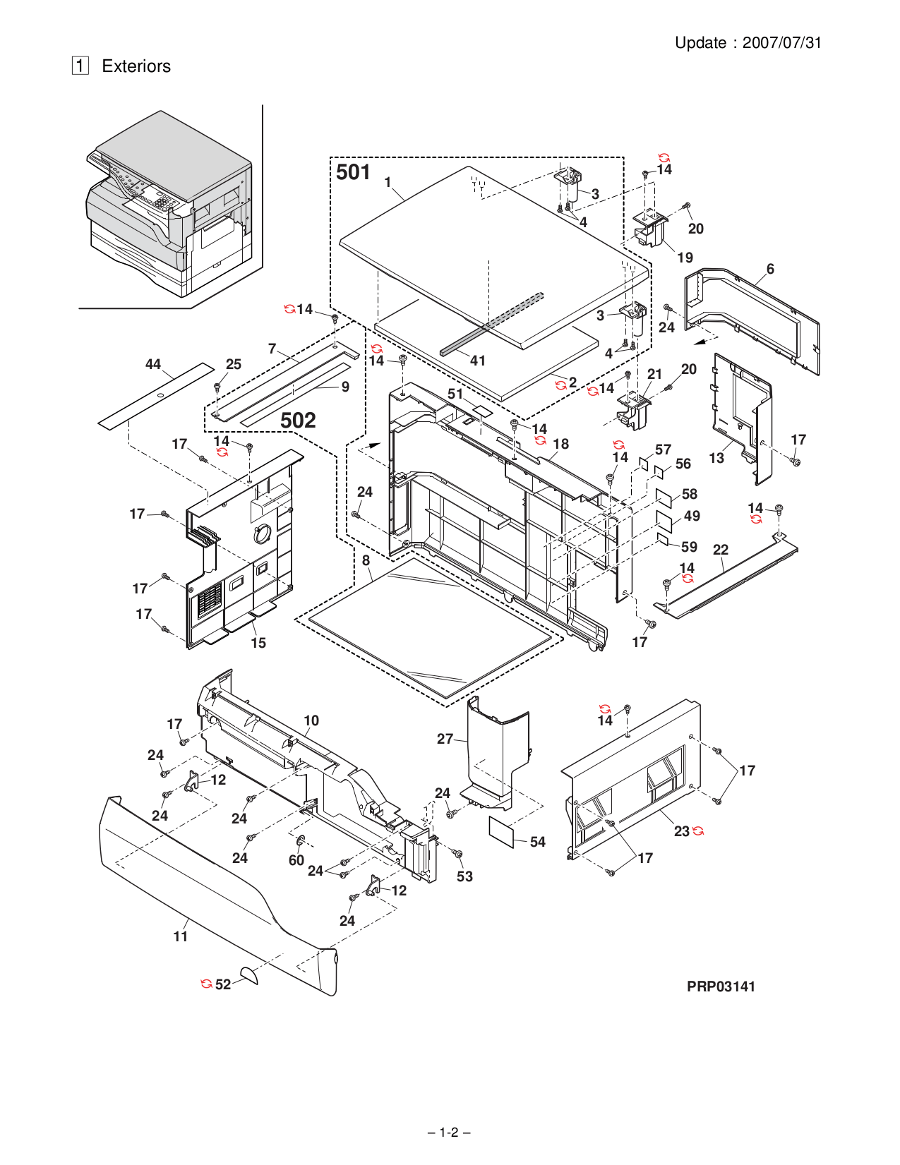 PDF manual for Sharp Copier AR-5316