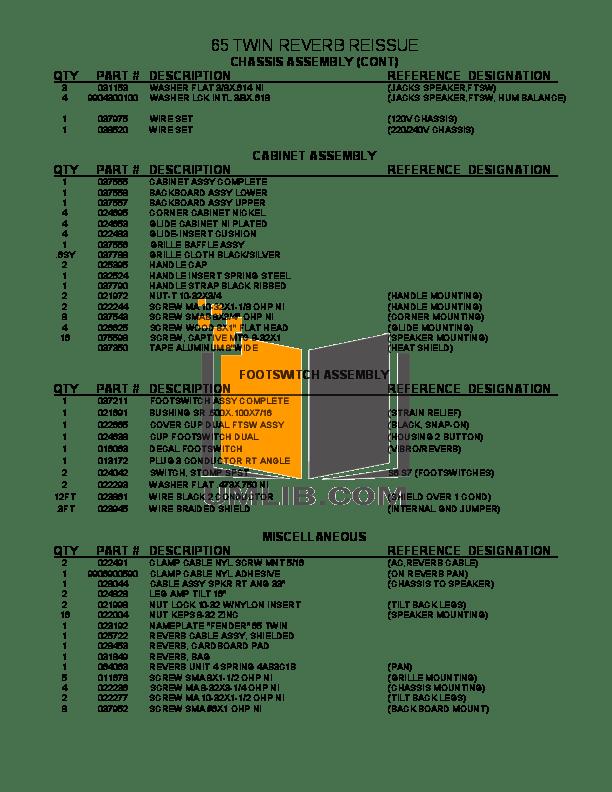 PDF manual for Fender Amp 65 Super Reverb