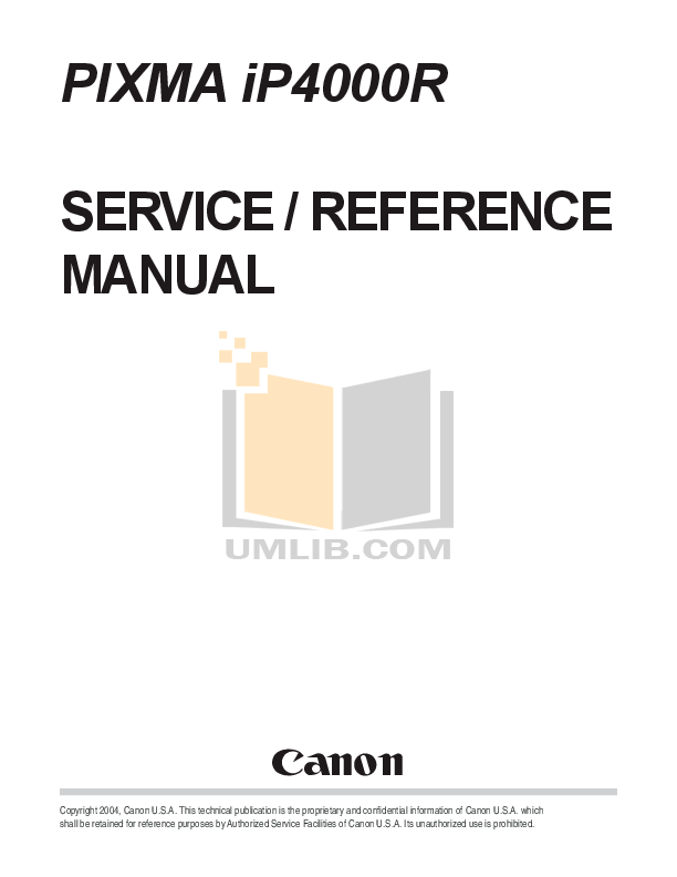 Download free pdf for Canon PIXMA iP4000R Printer manual