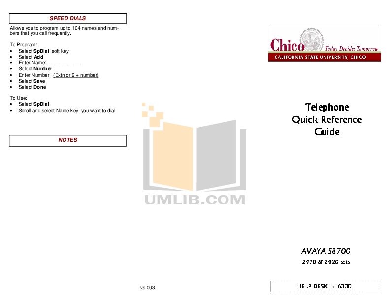 Download free pdf for Avaya 2420 Telephone manual