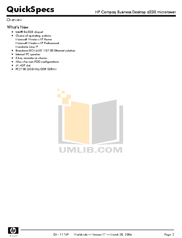 PDF manual for HP Desktop Compaq d230 MT