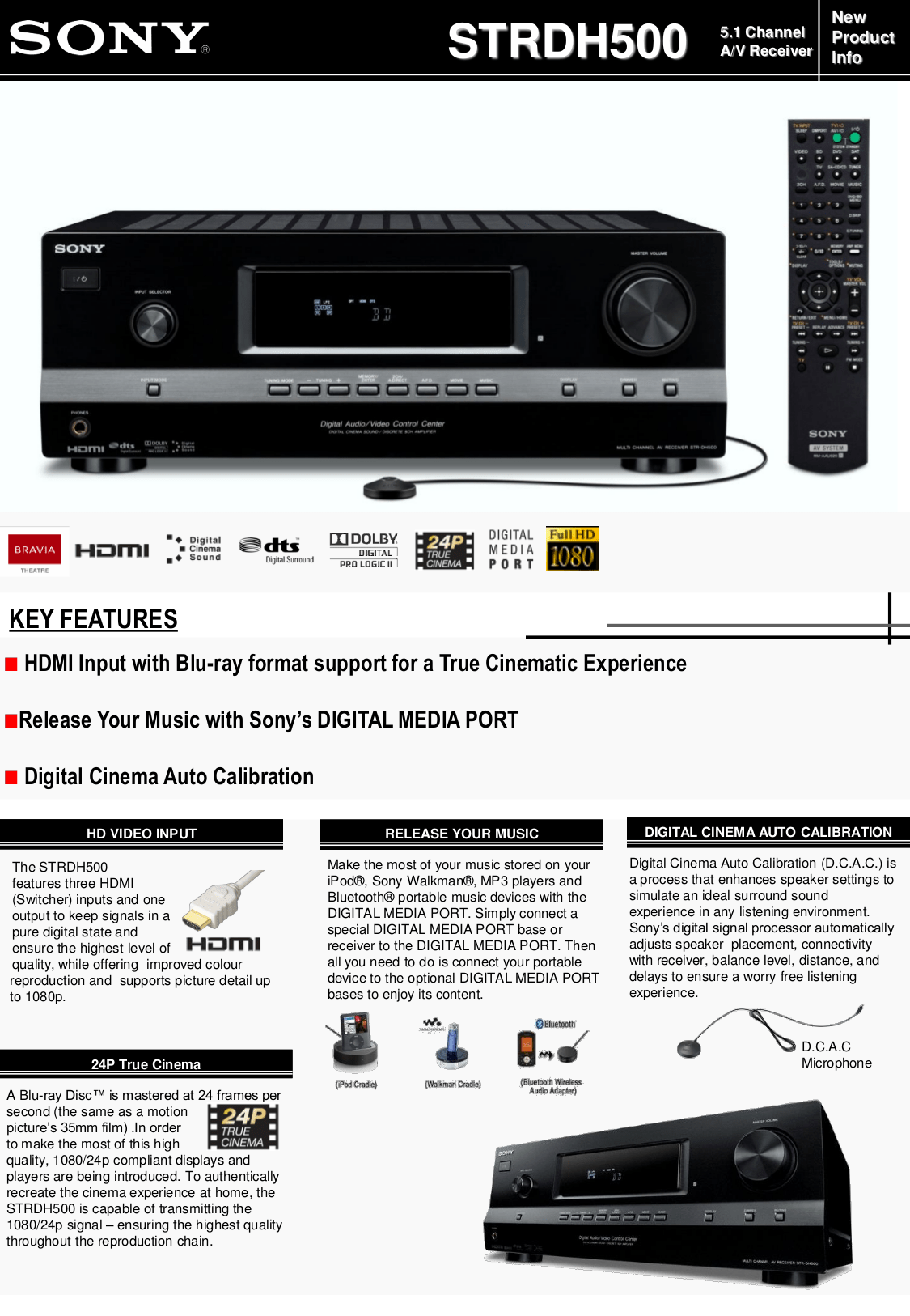 Download free pdf for Sony STR-DH500 Receiver manual