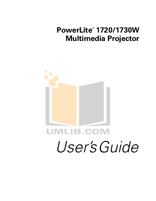 Download free pdf for 3M 1720 Projector manual