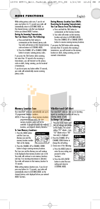 PDF manual for Cobra 2-way Radio microTALK MT 600
