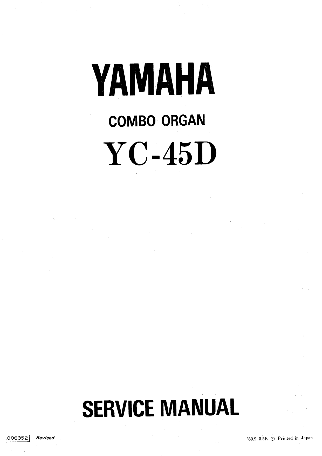 Download free pdf for Yamaha YC-25D Music Keyboard manual