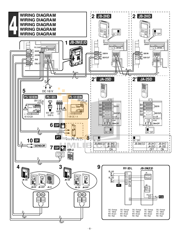 PDF manual for Aiphone Other JF-DV Intercoms