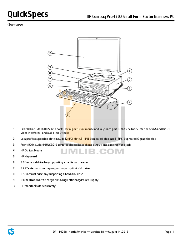 Download free pdf for Dell Dimension 4300S Desktop manual