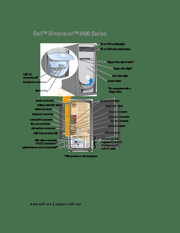Download free pdf for Dell Dimension 4300S Desktop manual