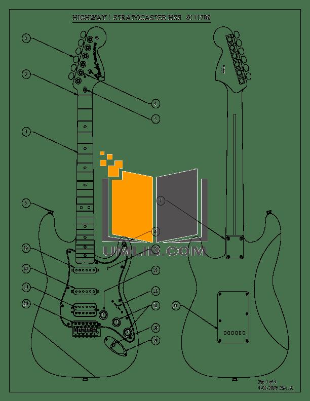 Download free pdf for Fender Highway One Stratocaster HSS