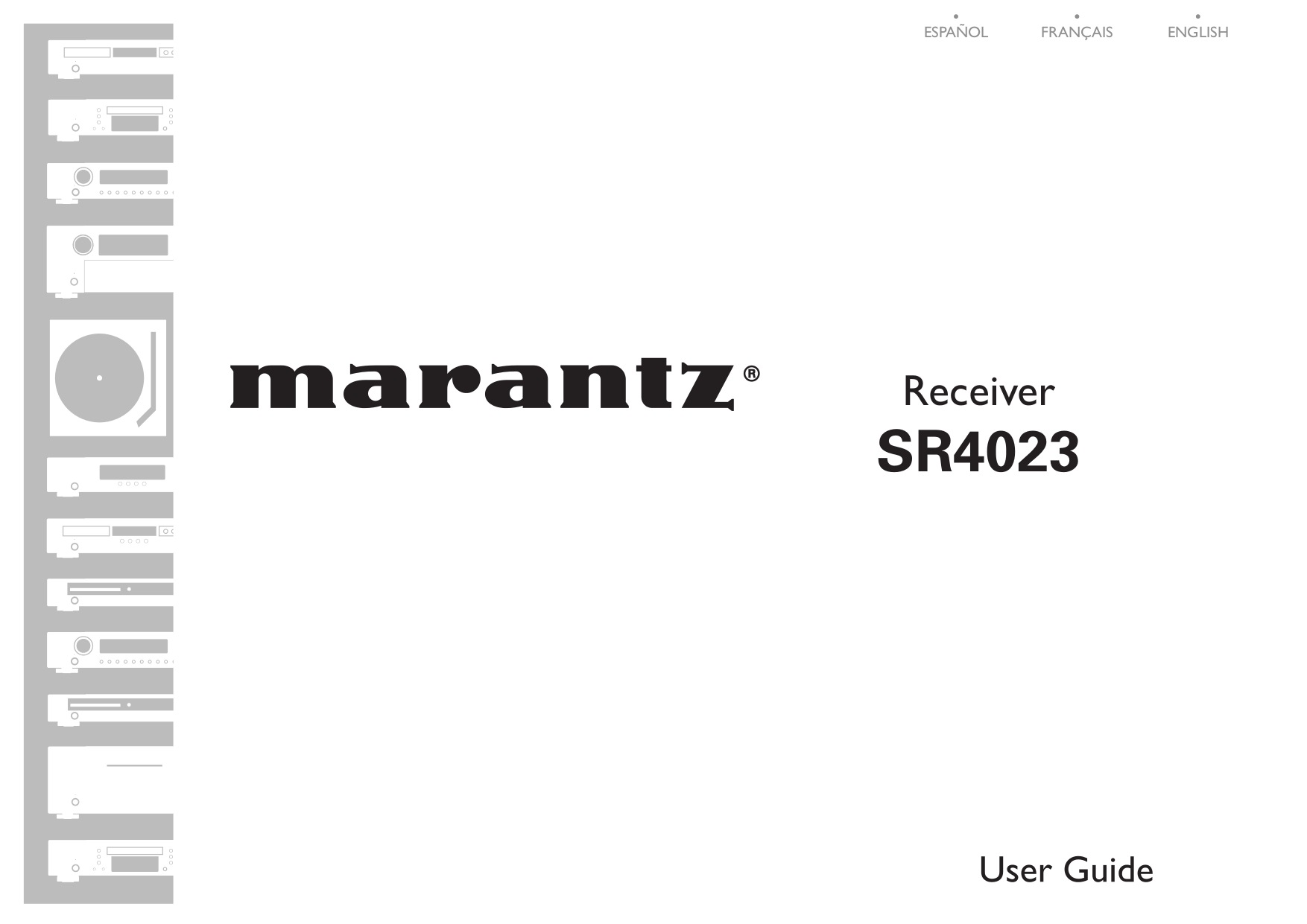 Download free pdf for Marantz SR4023 Receiver manual