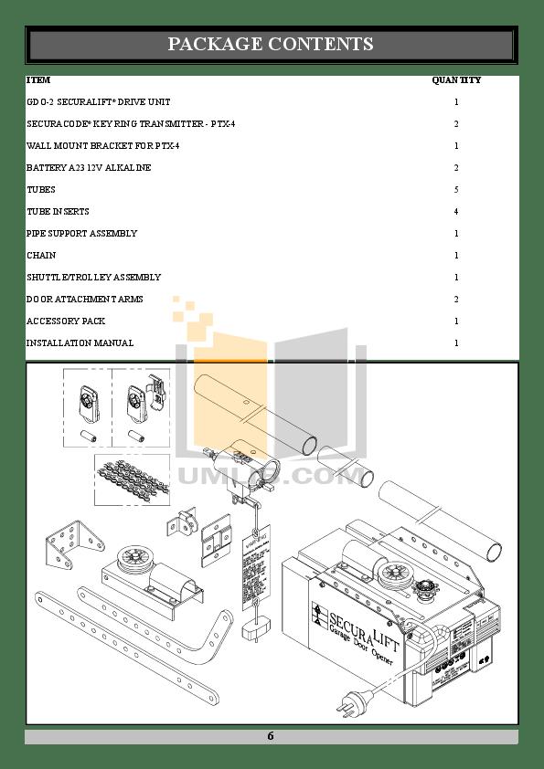 PDF manual for Chamberlain Other 5100-2K Garage Door Openers