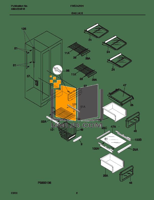 PDF manual for Frigidaire Refrigerator FRS20QRC