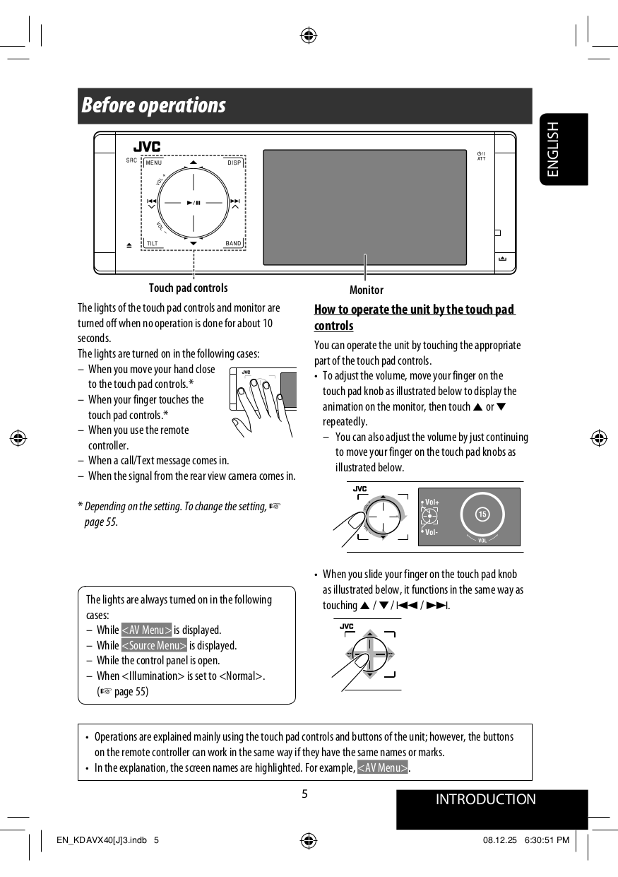 PDF manual for JVC Car Video KD-AVX40