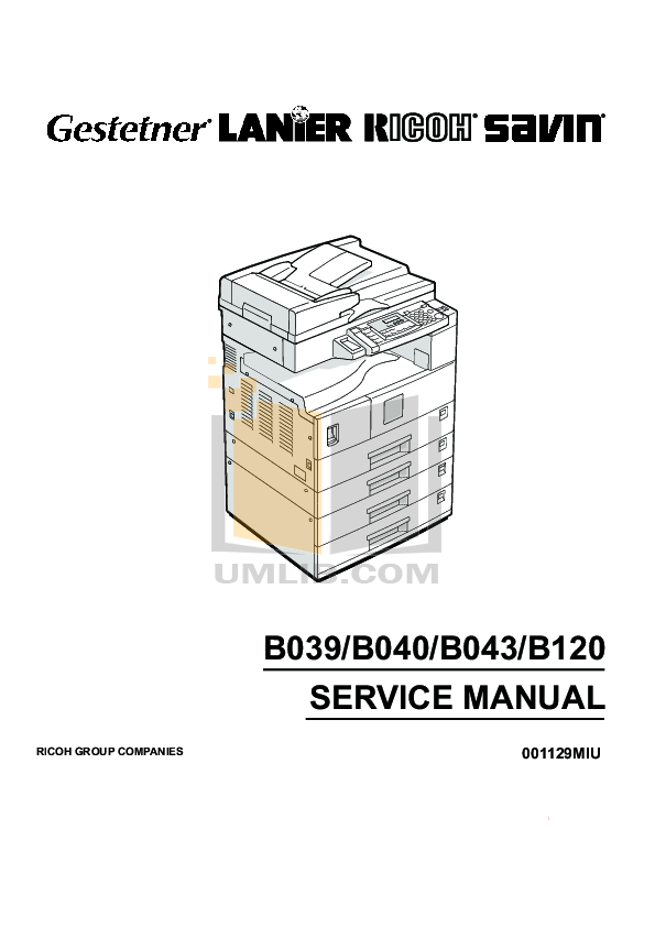 Download free pdf for Gestetner 1802d Copier manual