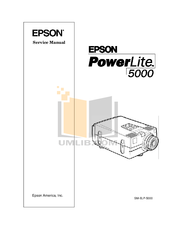 Download free pdf for Epson PowerLite 5000 Projector manual