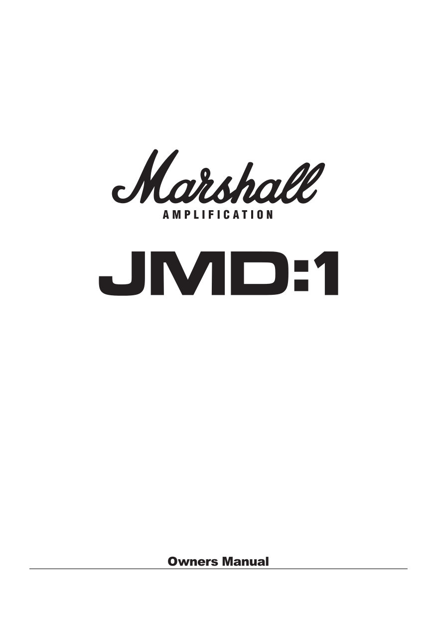 Download free pdf for Marshall MG101FX Amp manual