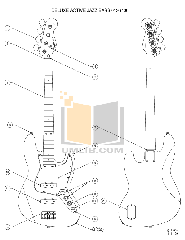 PDF manual for Fender Guitar Deluxe Active Jazz Bass