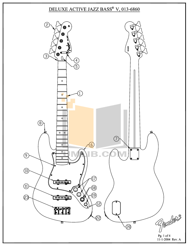 Download free pdf for Fender Deluxe Active Jazz Bass