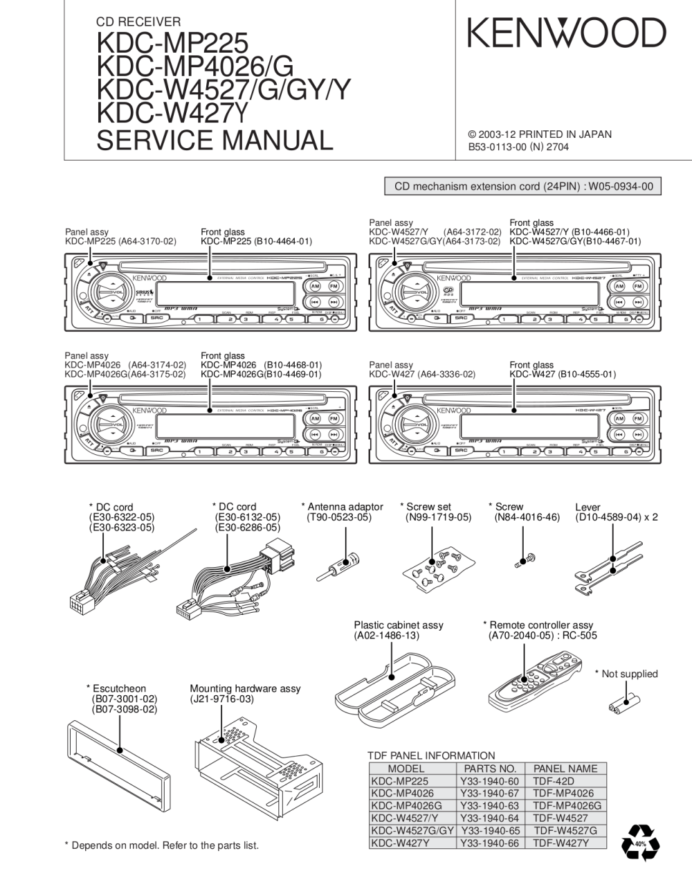 medium resolution of pdf manual for kenwood car receiver kdc 222 kenwood kdc 135 wiring diagram kenwood kdc
