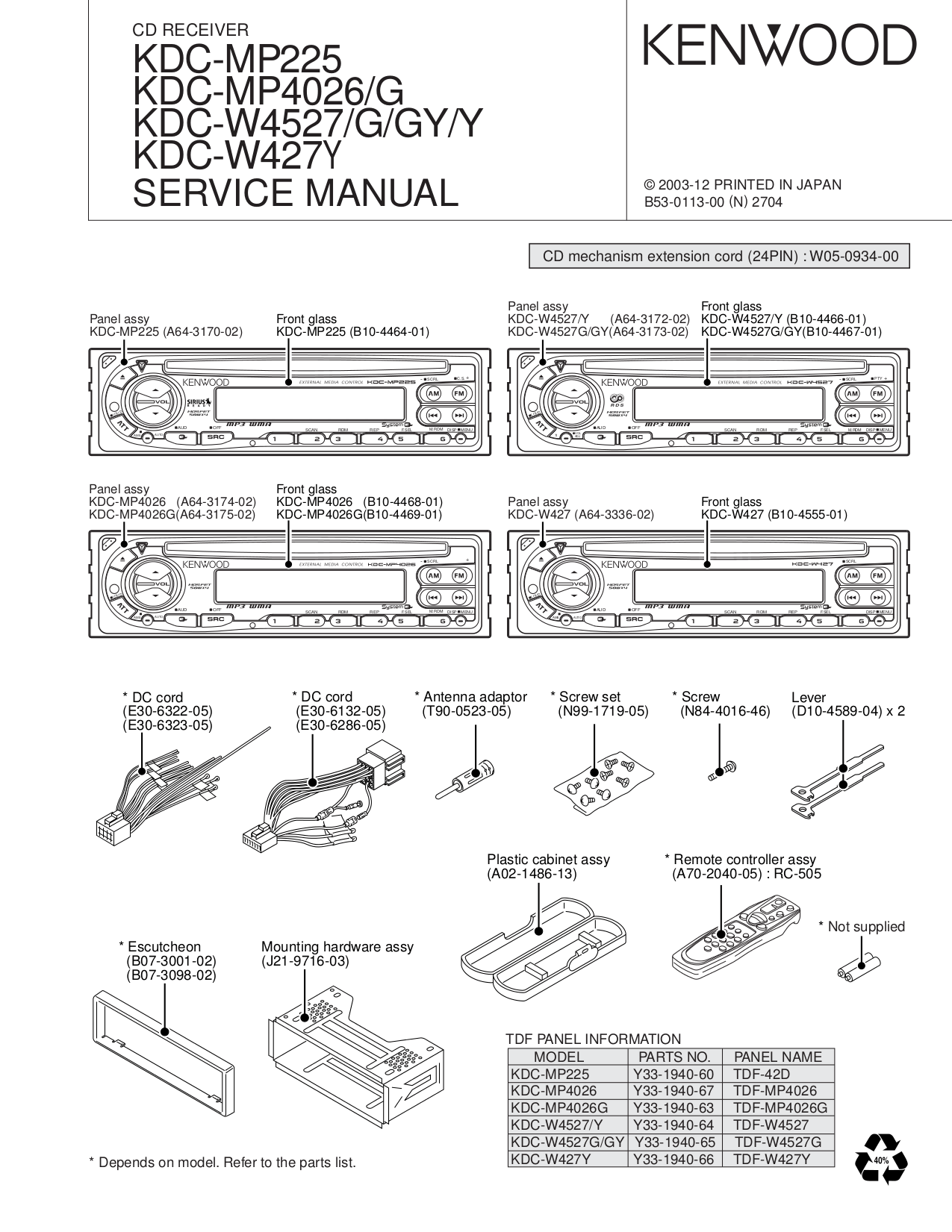 hight resolution of pdf manual for kenwood car receiver kdc 222 kenwood kdc 135 wiring diagram kenwood kdc