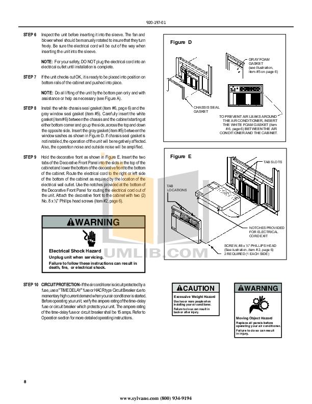 PDF manual for Friedrich Air Conditioner X-Star XQ06M10