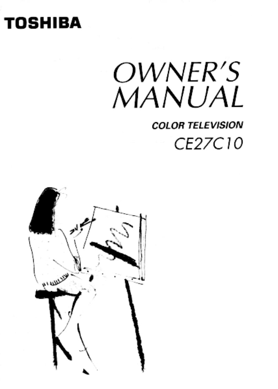 Download free pdf for Toshiba CE27C10 TV manual