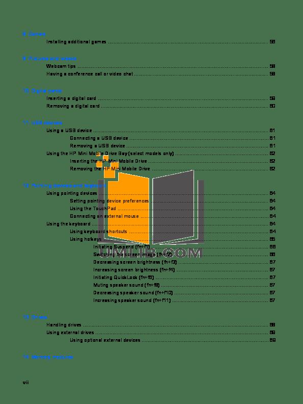 PDF manual for HP Laptop Mini 110-3500