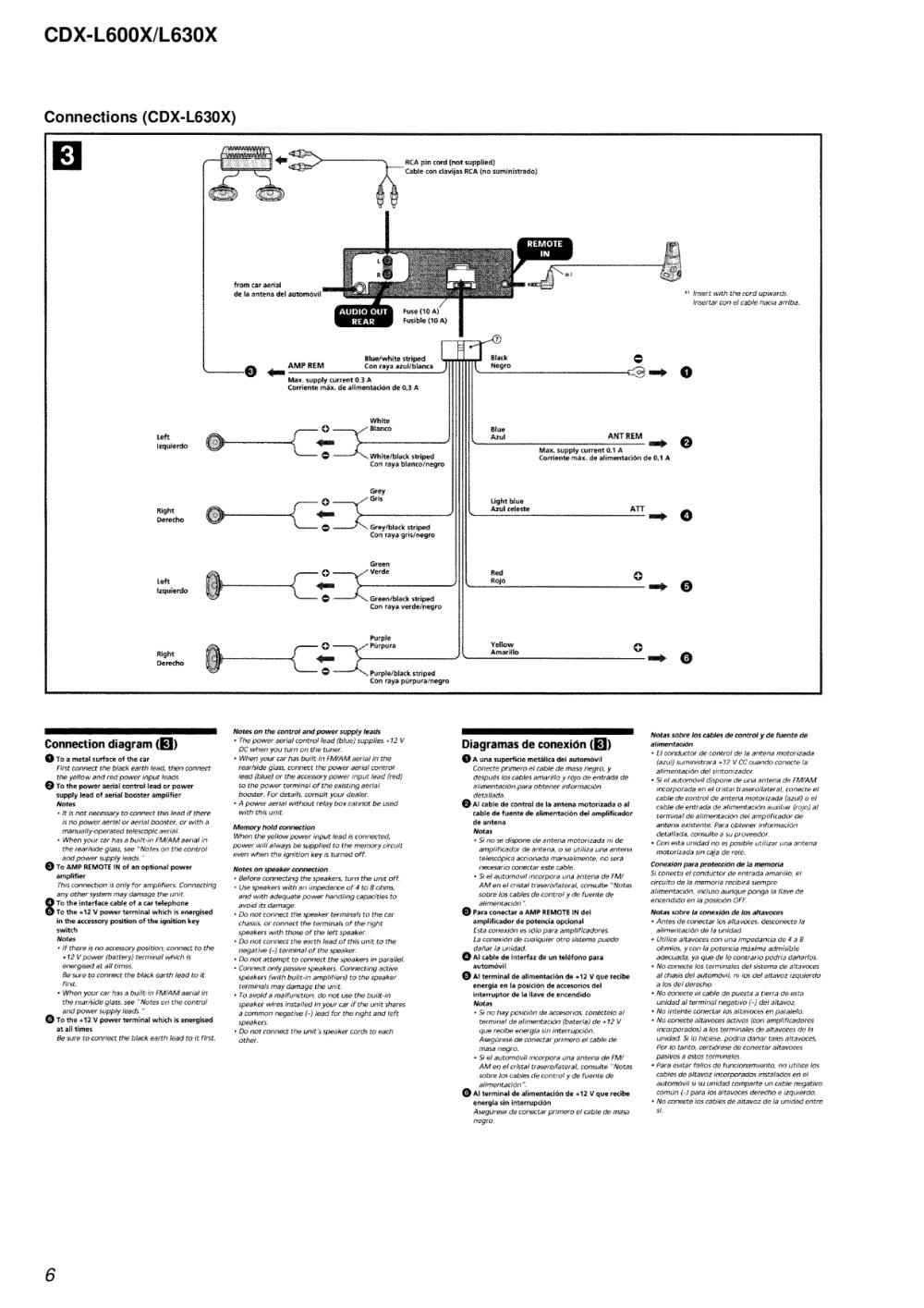 medium resolution of cdx l600x wiring diagram wiring diagram schematicpdf manual for sony car receiver cdx l630x cdx l600x