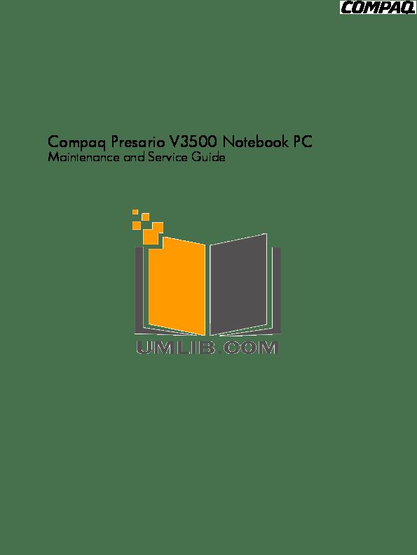Download free pdf for HP Compaq Presario,Presario CQ50-101