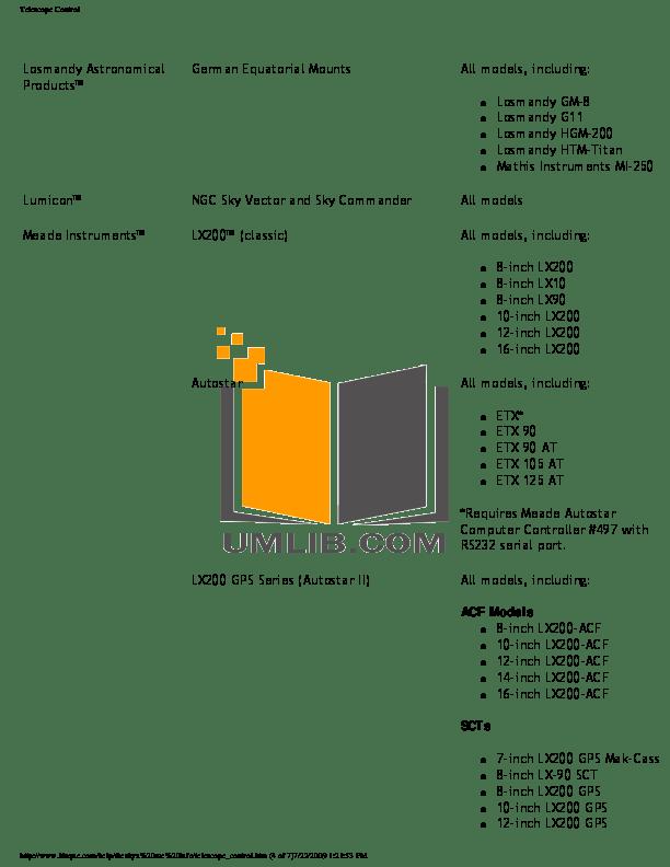 PDF manual for Celestron Telescope NexStar 80GT