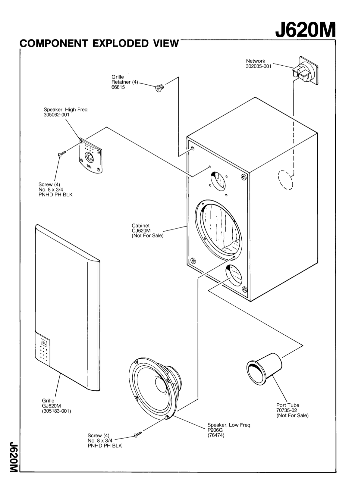 PDF manual for JBL Speaker J620M