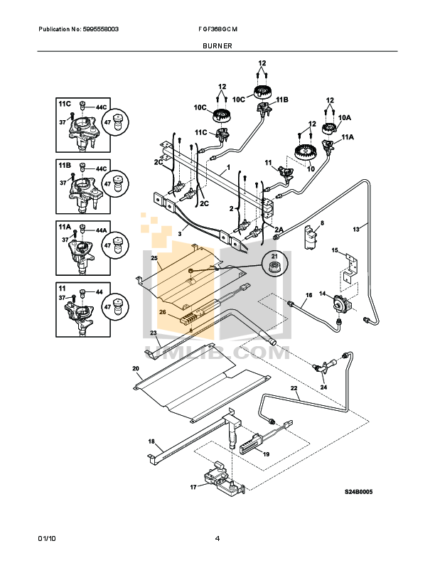PDF manual for Frigidaire Range FGF368G